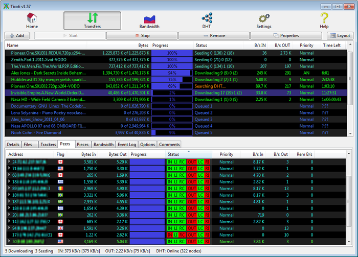 Full Tixati Portable screenshot